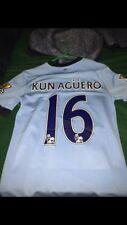 Nike Manchester City Jersey, Kun Aguero #16, Men's size S