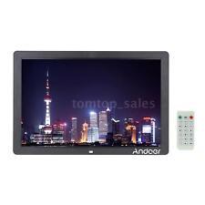 "17"" HD 1080P LED Digital Photo Frame MP3 MP4 Movie Player Remote Control D4M0"