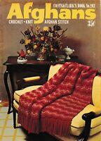 Afghans Crochet Knit Afghan Stitch | Coats & Clark 203