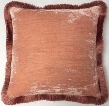 Kissen Anke Drechsel Designer PLAIN PR Fringe Old Rose Pillow Almohada Cushion