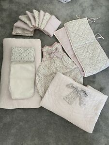 Mamas And Papas Lilybelle Complete Cot Bedding Set For Baby Girl Sleeping Bag