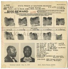 Wanted Notice - Ad Bird/Escaped - State Prison Southern Michigan, 1947