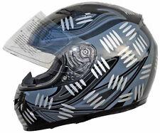 Integralhelm FF1 Grau-Schwarz metallic glänzend Motorradhelm Rollerhelm Quadhelm