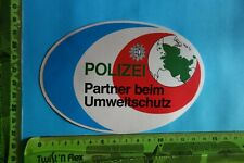 Alter Aufkleber Polizei Zoll POLIZEI Partner beim UMWELTSCHUTZ
