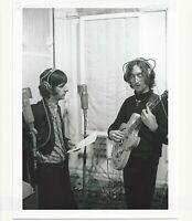 BEATLES 8X10 RINGO STARR  JOHN LENNON RECORDING PROFESSIONAL PHOTO PAPER . 142