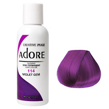 ADORE SEMI PERMANENT HAIR COLOR VIOLET GEM - 114 118mL