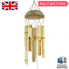 Bamboo Wind Chime Home Decor Garden Outdoor Hanging Bell Gift Ornament