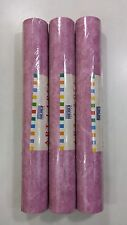 3 Rolls of Wallpaper Roughcast Style Raspberry textured Heavy Washable 73802