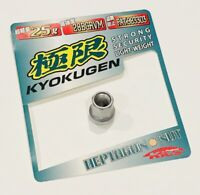 Open Ended 19p Set KYOKUGEN Heptagon Lug Nuts M12xP1.25 Silver Pearl Missing Key