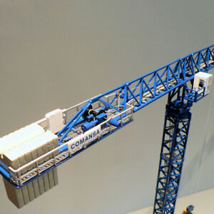 1/87 Scale Metal Alloy Heavy Tower Crane Libra Tower Diecast Construction Toy