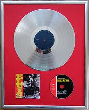 """Elvis Presley The King gerahmte CD Cover+12""""Vinyl goldene/platin Schallplatte"""