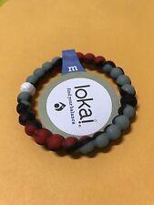 New Lokai Bracelet Black and White beads size Size Medium (M) Red Black and Gray