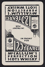 1 Single VINTAGE Swap/Playing Card McCALLUM'S PERFECTION SCOTS WHISKY Reversible