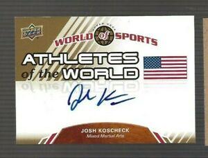 Josh Koscheck 2010 Upper Deck World of Sports Athletes of the World #AW73