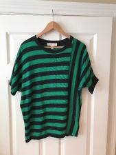 Michael Kors Green & Black Striped Sweater, Size Small, NWT!