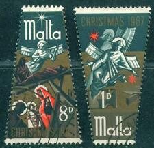 [JSC] 1967 Malta Christmas Stamp Special Shape Design