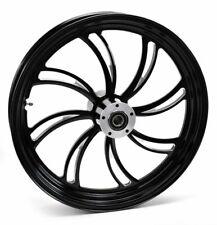 "Black Vortex 21"" 3.5"" Billet Front Wheel Rim Harley Touring Custom Dual Disc"