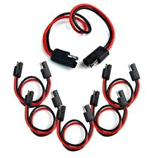 """20 Pieces 12"""" Quick Disconnect 14 Gauge 2 Pin Polarized Molded Power Connectors"""
