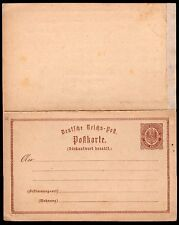 1645 GERMANY PS STATIONERY POSTAL CARD WITH REPLY 1872 UNCIRCULATED