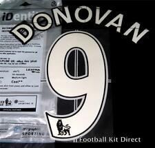 Everton Donovan 9 Premier League Football Shirt Name/number Set Lextra Home