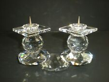 Retired Swarovski # 108 E Crystal Candle Holder Sold in Europe Pin Style 7600