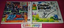 LOT 2 JEUX NINTENDO 3DS LBX LITTLE BATTLERS EXPERIENCE + CHIBI ROBO! ZIP LASH