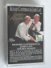 Richard Clayderman & James Last/Golden Hearts Album Cassette Tape Used very good