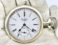 1890s Henry Sandoz Swiss 18s Chronograph Quarter Repeater Pocket Watch