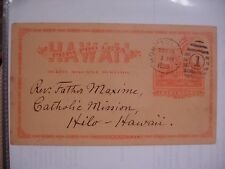 Hawaiian Missionary (Related) 1895 - Signed Postcard-Catholic Mission