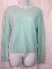 Central Park West M mint green 100% cashmere Ladies crew neck sweater