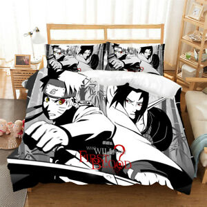 Uchiha Itachi And Naruto Duvet Quilt Cover Set Pillowcase Double Single King S K