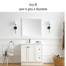 Hampton Country Style Bathroom Vanity Cabinet Unit 900 mm with White stone top