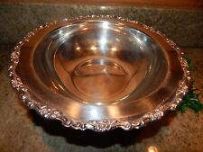 Oneida Footed Silver Plate Serving Bowl Beautiful!