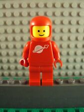 Lego Minifig ~  RED Futuron Classic Astronaut Spaceman With Vintage Helmet RARE