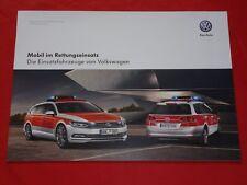 VW Golf Variant Tiguan Passat Variant Einsatzfahrzeuge Prospekt Brochure 2015