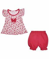 Baby Girls Dress Top and Shorts Set Toddler Floral Summer Casual Outfit 6-36 M