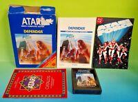 Defender  for Atari 2600 - Cartridge, Box, + Manual - Tested, Working Complete