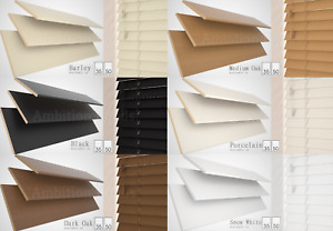 WOOD WOODEN VENETIAN BLINDS REAL WOOD MADE TO MEASURE  CHILD SAFE