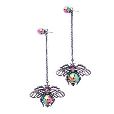 Betsey Johnson Beautiful Spider insects dangle earrings woman party jewelry