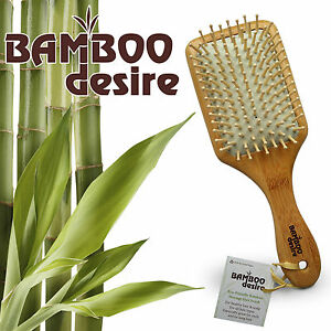 Natural large paddle High Quality zero waste bamboo wooden massage hair brush