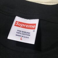 Supreme Box Logo Short Sleeve Tee Shirt Size Large Kmart Blank Bogo Authentic