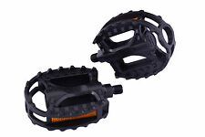 """FREESTYLE BMX BIKE BEARTRAP STYLE PEDALS 1/2"""" CRO-MO AXLE PAIR BLACK"""
