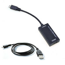 Micro USB MHL To HDMI Adaptor + Charging Port Samsung Galaxy Black + 3 m Cable