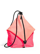 Victoria's Secret Limited Backpack Beach Tote Sling Bag Pink Coral NWT $85