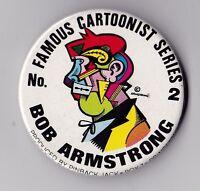 FAMOUS CARTOONIST SERIES PINBACK BUTTON NUMBER 2 ROBERT ARMSTRONG MICKEY RAT