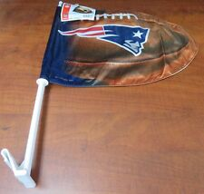 New England Patriots WinCraft Football Shaped Car Flag - NFL NWT