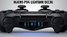 ALIENI Playstation PS4 CONTROLLER Barra Luminosa Decalcomania Adesivo Vinile predator Movie