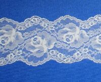 """Vintage Ivory Lace Trim 8 - 32 Yds x 4"""" Floral M98GV Buy any 3 Trims Get 1-FREE"""
