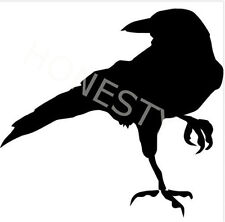 Crow Raven Blackbird Sticker Car glass mirror window laptop floor wall van decal