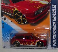 2012 Hot Wheels #155 HEAT FLEET * VOLKSWAGEN BRASILIA * VW BRAZIL RED W/FLAMES
